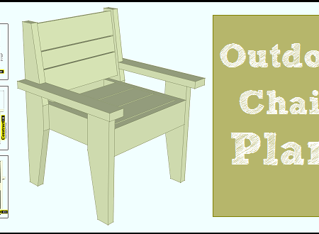 Outdoor chair plans with free PDF download