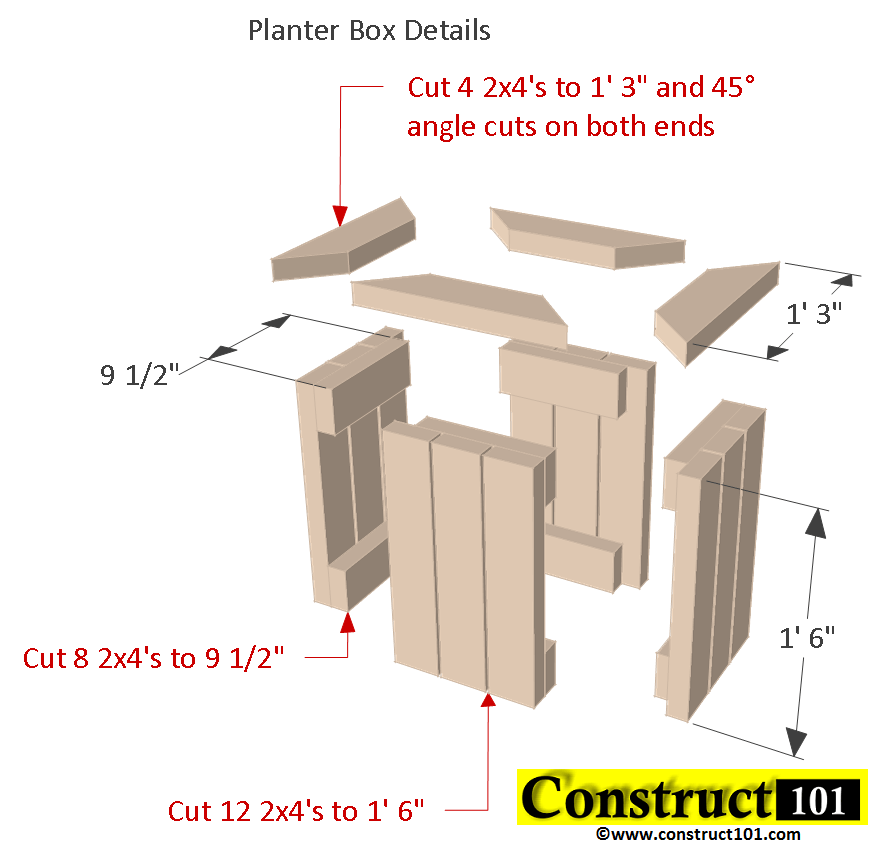 ... Planter Bench Plans Built With 2x4s Free Pdf. on 2x4 deck plans