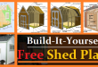Free Shed Plans – with Drawings and Material List