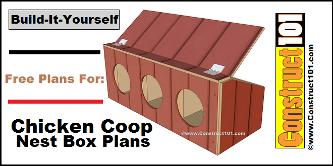 chicken coop nest box plans construct101 chicken coop plans 2 comments