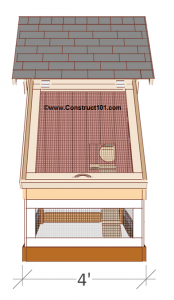chicken coop plans design 1 right view