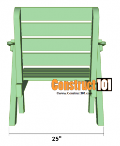 lawn chair plans back overview