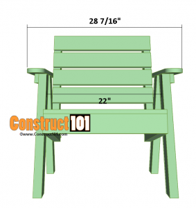 lawn chair plans front overview