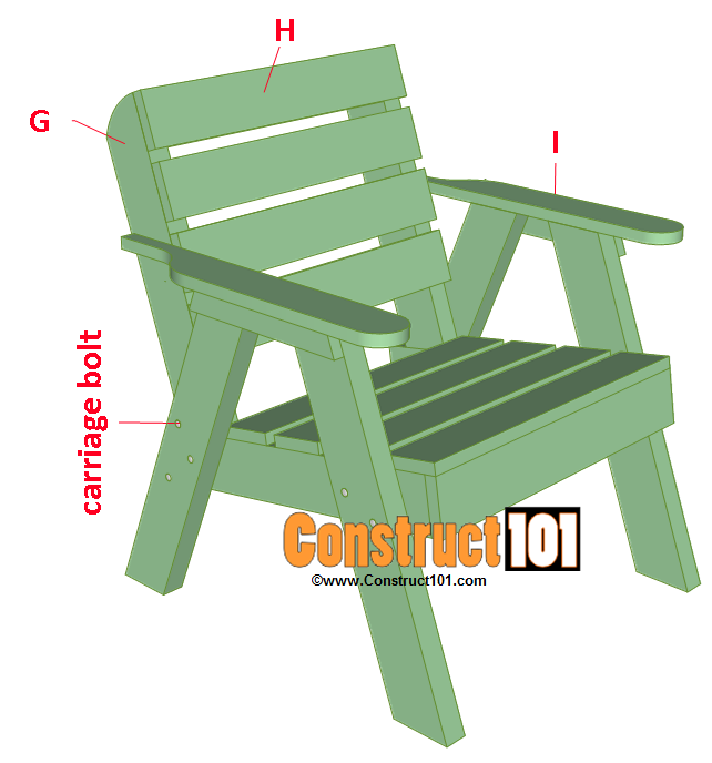 lawn chair plans install back and arm