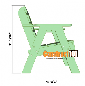 lawn chair plans side overview