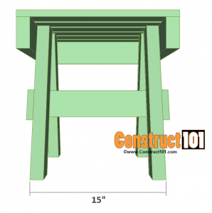 lawn chair table plans back overview