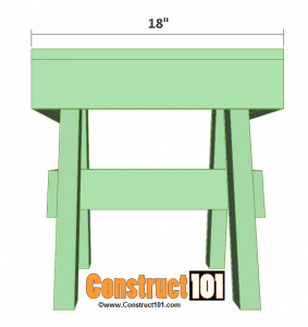 lawn chair table plans front overview
