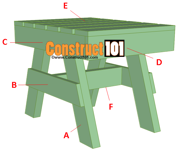 lawn chair plans table parts