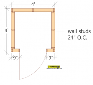 small shed plans 4'x4' gable shed floor view