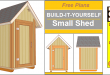Small Garden Shed Plans 4'x4′ Gable Shed
