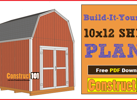 10x12 shed plans - gambrel shed