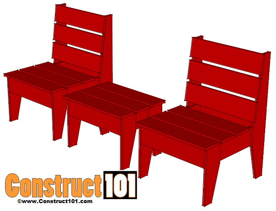 Easy Lawn Chair & Table Plans
