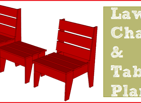 Lawn chair plans with free PDF download.