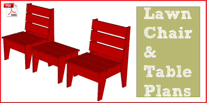 Lawn Chair Plans With Free Pdf