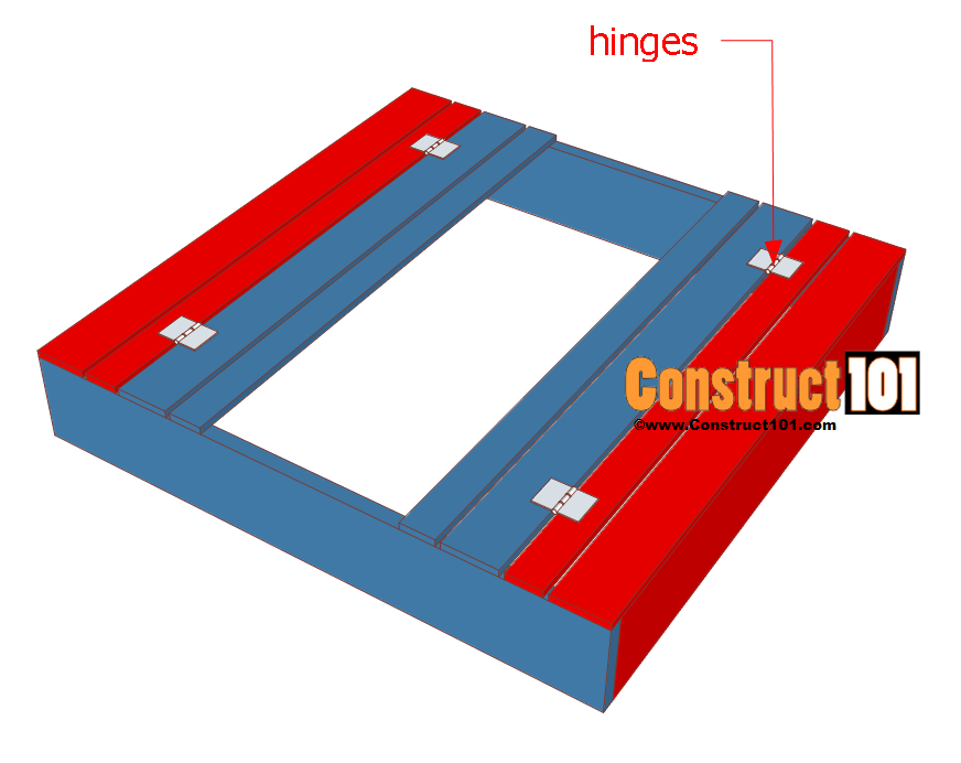 sandbox plans with bench and lid step 4