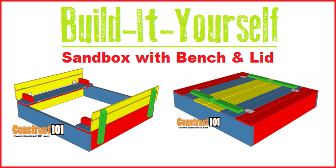 Sandbox Plans With Bench Amp Lid Construct101