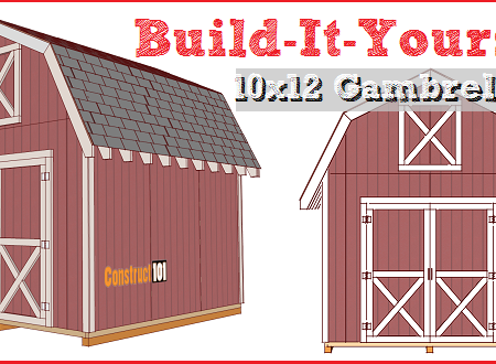 shed plans 10x12 gambrel barn shed