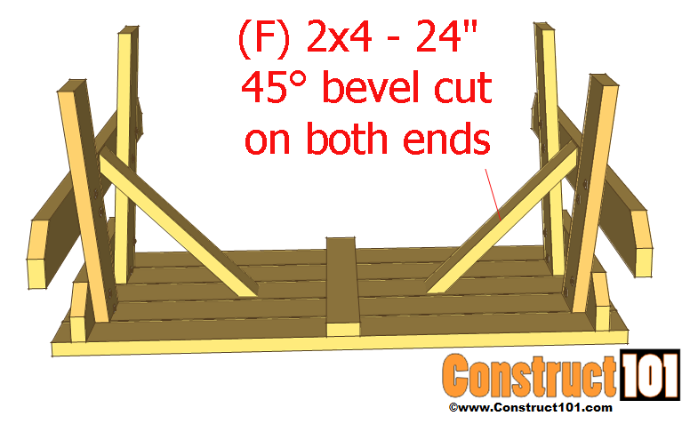 traditional picnic table plans step 4