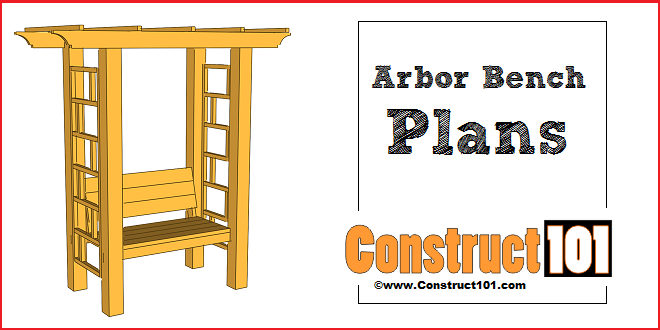 garden arbor bench plans construct101 arbor plans bench plans outdoor ...