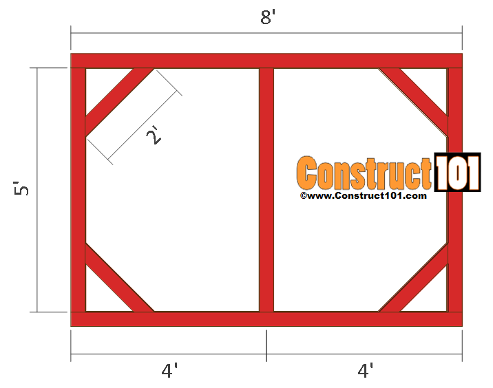 chicken coop run plans 8x4 back wall