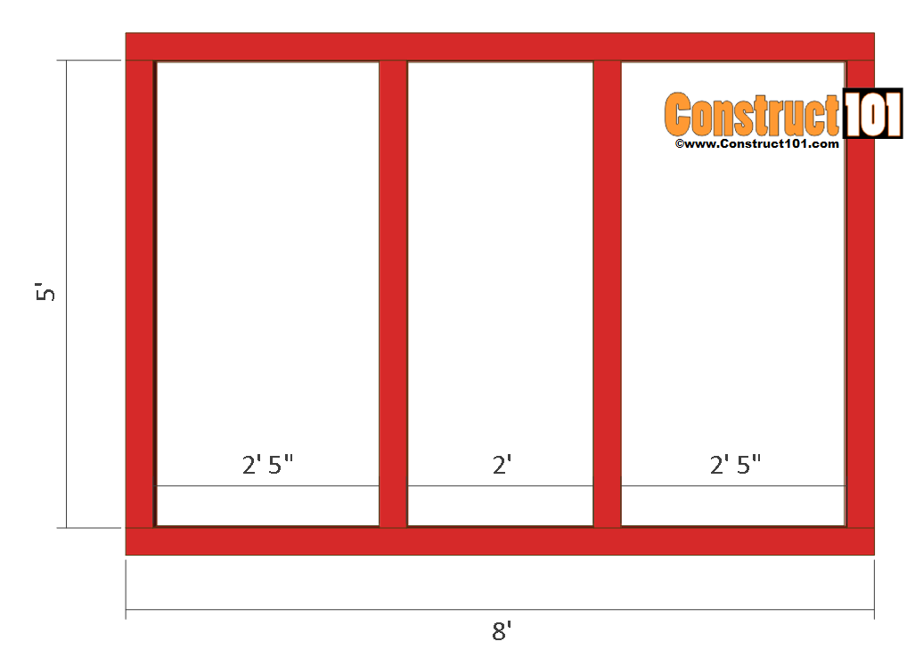 chicken coop run plans 8x4 front frame