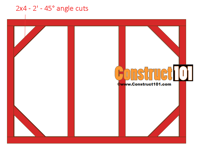 chicken coop run plans 8x4 front wall brace
