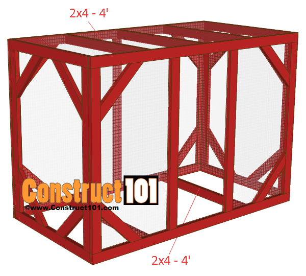 chicken coop run plans 8x4 bottom and top