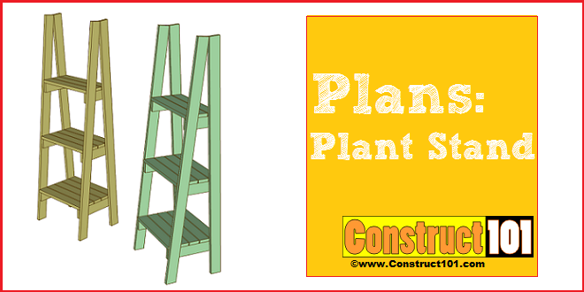 DIY Plant Stand Plans Construct101