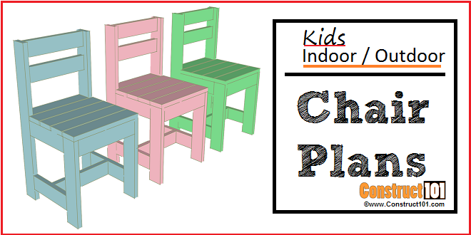 kids indoor outdoor chair plans