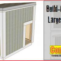 Garden shed plans 8x8 step by step construct101 Lean to dog house plans