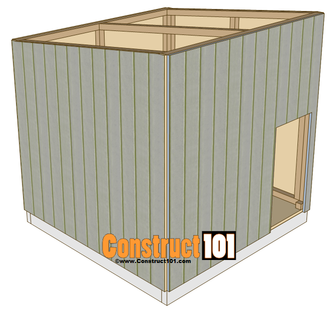 large dog house plans - construct101