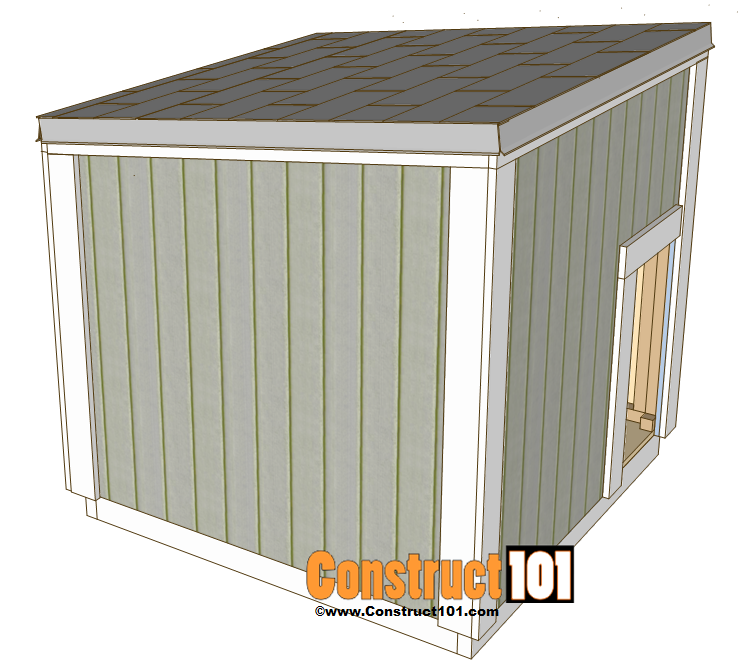 Large dog house plans construct101 for Large dog house blueprints