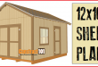 12×16 Shed Plans – Gable Design