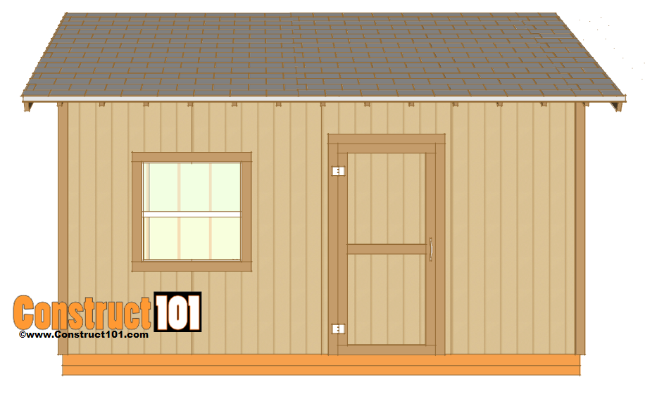 12x16 shed plans - shingles - corner trim