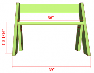 Leopold bench plans front view