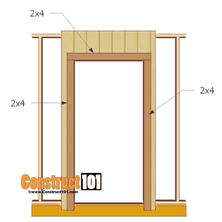 single shed door plans 2x4 door trim