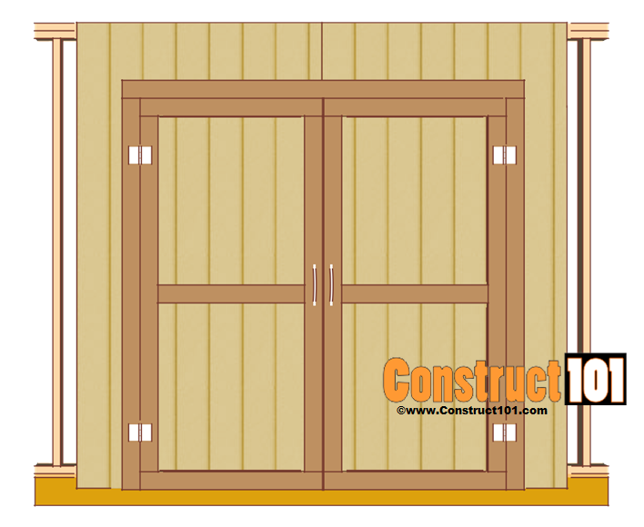 Shed door plans pdf download construct101 for Double door shed plans