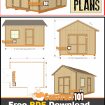 Shed plans - 12x16 gable shed - Free PDF download.