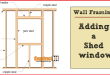 Wall Framing – Adding a Shed Window