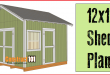 12×12 Shed Plans – Gable Shed
