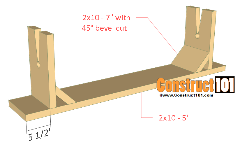 picnic table & bench plans bench assembly
