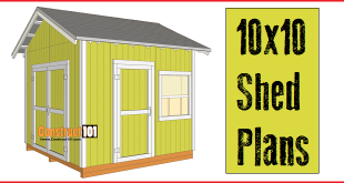 shed plans 10x10 gable shed
