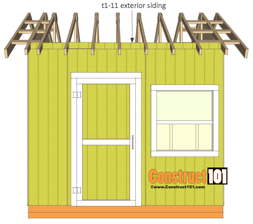 shed plans 10x10 gable shed rafter block siding