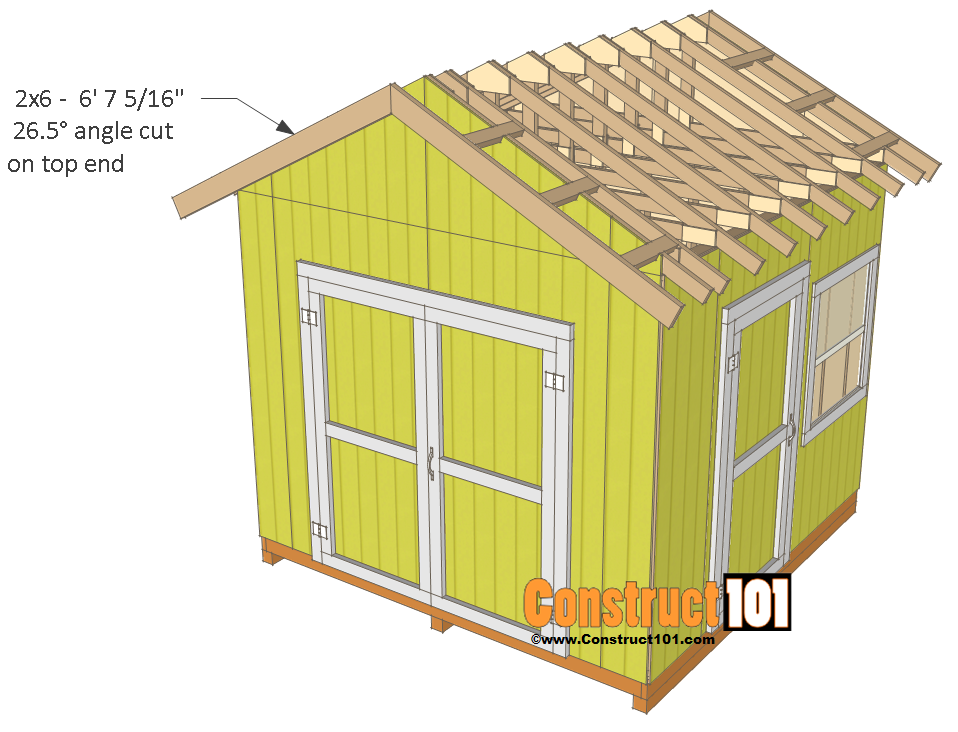 Roof shed workshop skillion garage 1 for Shed roof garage plans