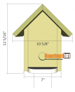 bluebird house plans side
