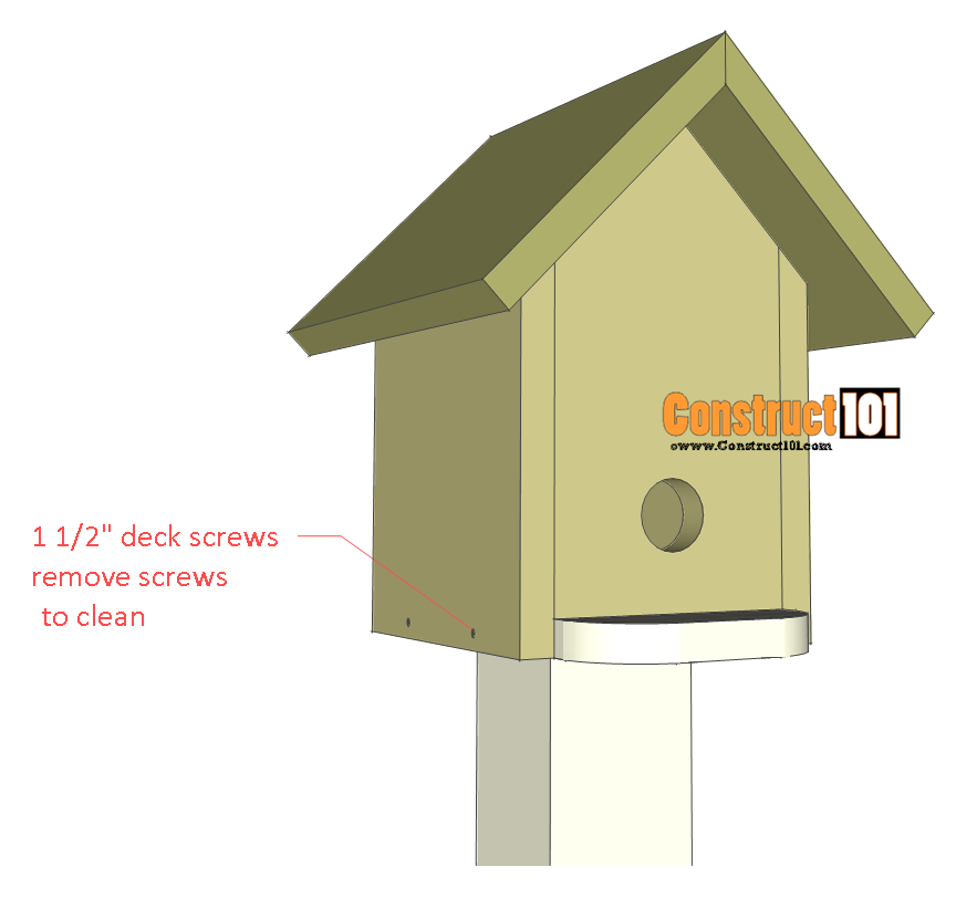 bluebird house plans mounted on pole