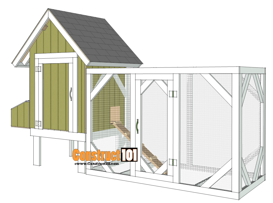 Chicken Coop Plans - Design #2 - Step-By-Step - Construct101