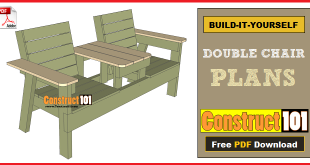 double chair bench plans