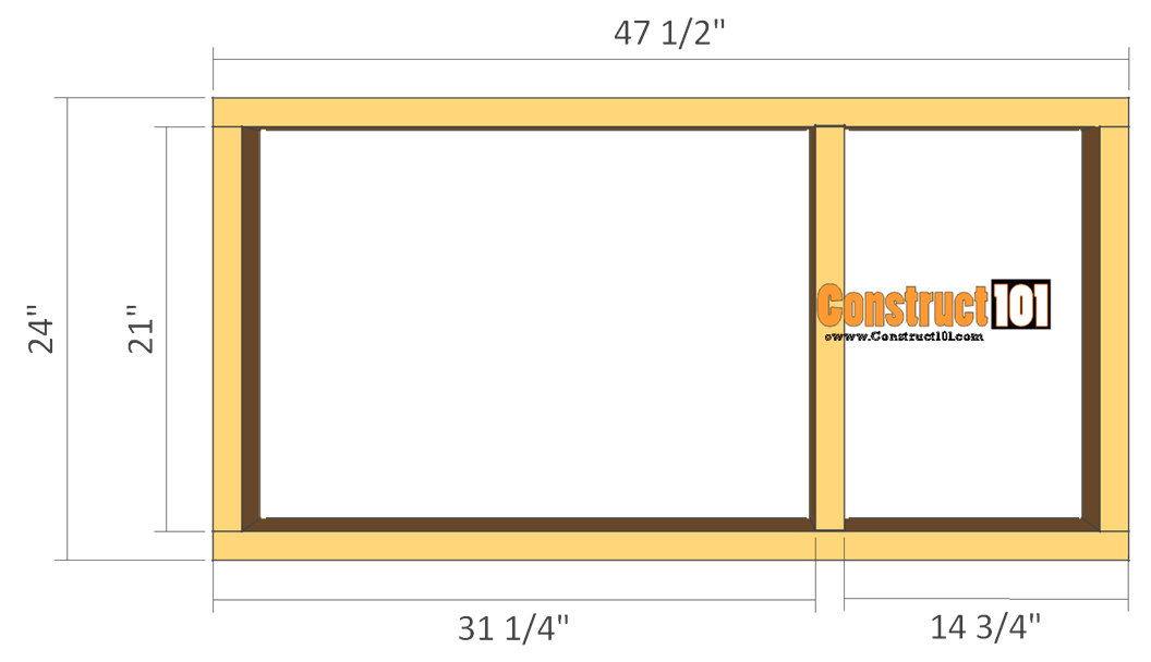 rabbit hutch plans step 1 floor