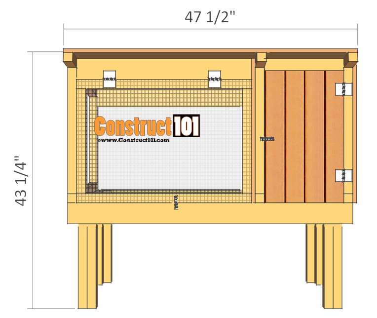 rabbit hutch plans front view